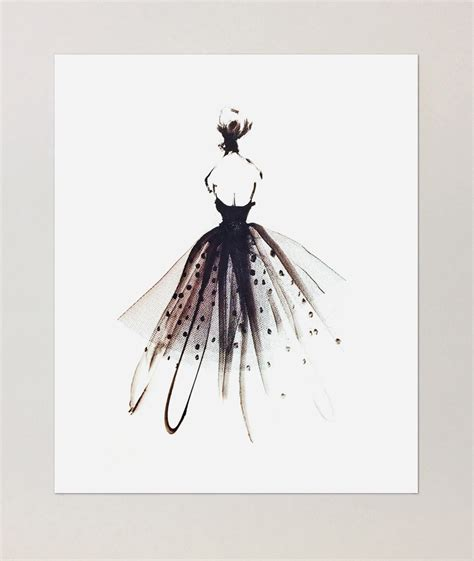 fashion illustration on black paper dreamy dresses fashion illustrations by rodgers of