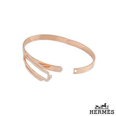 Hermes Hm022 Rosegold hermes gold bangle rich diamonds of bond