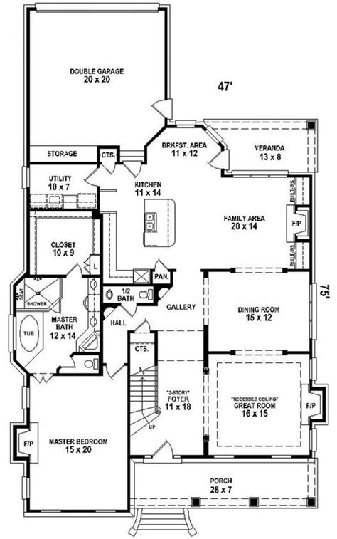 2 story house plans master bedroom downstairs quot 2 story quot house plan quot narrow lot quot quot courtyard quot quot downstairs