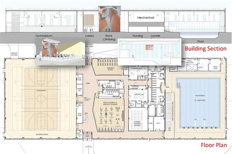 swimming pool floor plan east end s first public fitness facility with olympic size