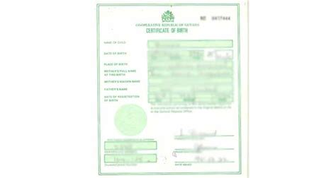 Guyana Birth Records Birth Certificates Now Security Features Guyana Chronicle