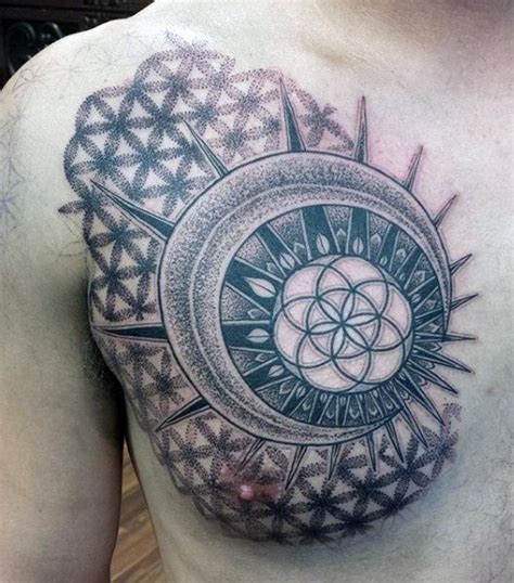 geometric tattoo on chest top 100 best sacred geometry tattoo designs for men