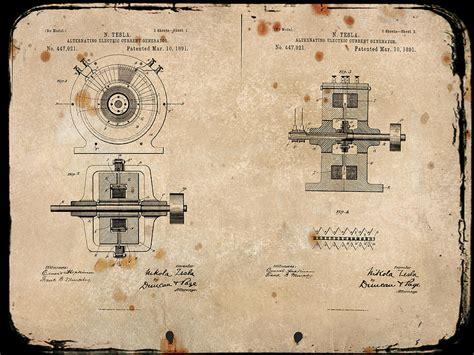 Tesla Current Nikola Tesla S Alternating Current Generator Patent 1891