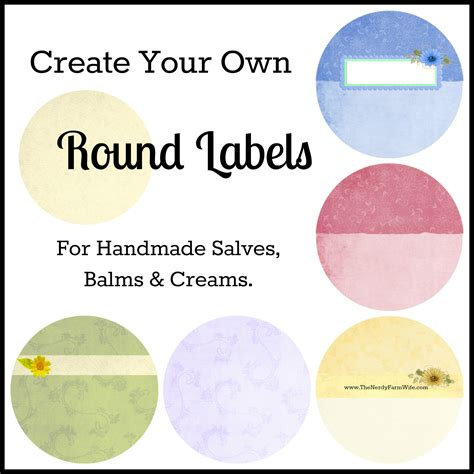 create your own label template how to create your own labels the nerdy farm