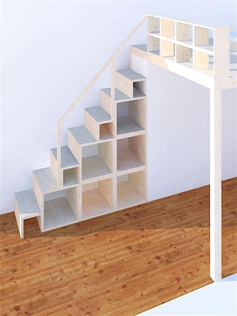 hochbett treppe regal regal und treppe f 252 r hochebene und hochbett neubauen design