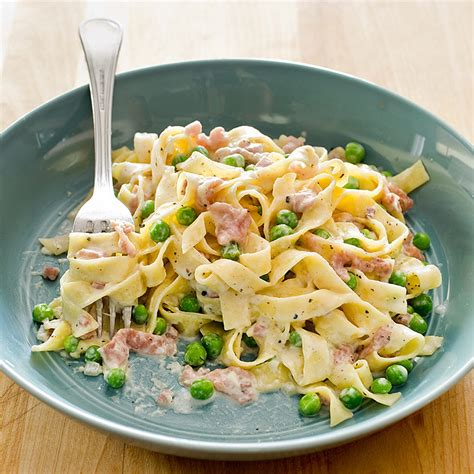 Cook S Illustrated by Tagliatelle With Prosciutto And Peas America S Test Kitchen