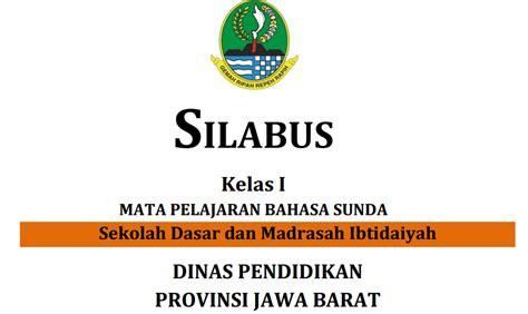 Bahasa Sunda Budak Singer Untuk Sdmi Kelas 6 silabus bahasa sunda sd smp sma smk terbaru info operator not angka lagu daerah