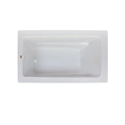 acrylic drop in bathtub shop jacuzzi primo white acrylic rectangular drop in