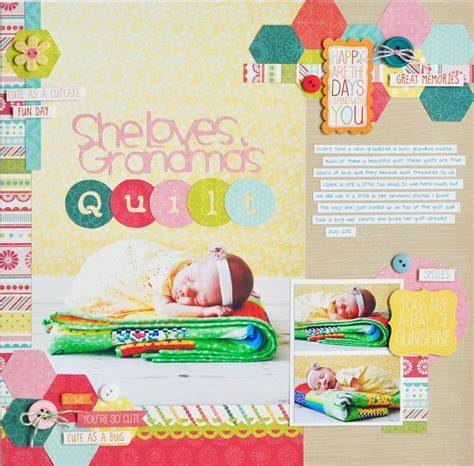 scrapbook quilt layout she loves grandma s quilt scrapbook com baby