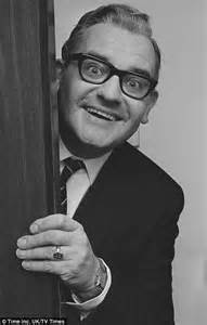 actor with thick rimmed glasses woody allen ronnie barker and alfred hitchcock in unseen