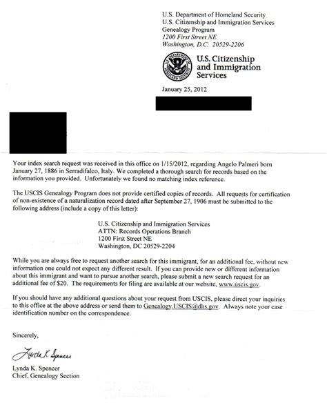 letter of certification for records naturalization record genealogy and jure sanguinis