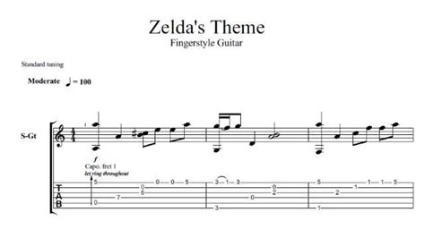 zelda tutorial guitar zelda s theme solo fingerstyle acoustic guitar cover