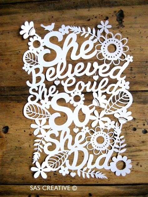 paper cut templates sas creative she believed she could so she did papercut
