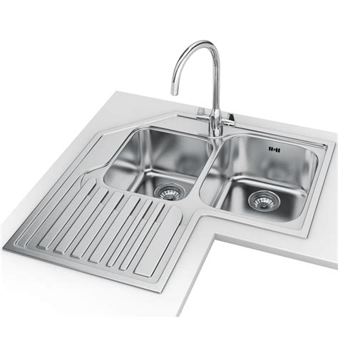 Franke Studio Stx 621 E Stainless Steel Corner Inset Sink Stainless Steel Corner Kitchen Sink