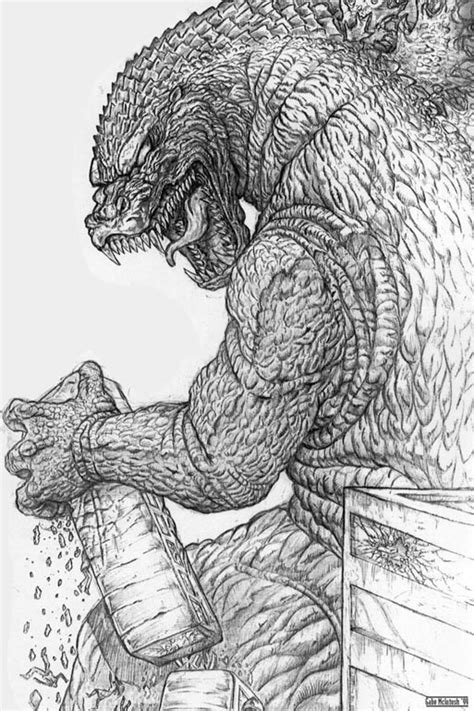 Godzilla Drawing Easy