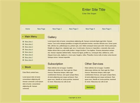 basic html site template html templates
