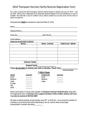 Family Reunion Registration Form Olala Propx Co Class Reunion Registration Form Template