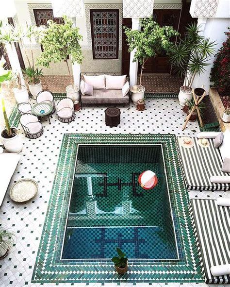 Yasmin Floor L Le Riad Yasmine Marrakech Architecture Zwembaden En Tegel