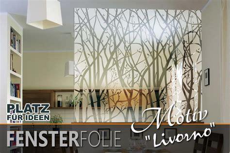 Sichtschutzfolie Fenster Wald teildurchsichtige fensterfolie mit filigranem wald motiv