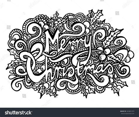 merry christmas coloring pages for adults merry christmas intricate hand drawn coloring page