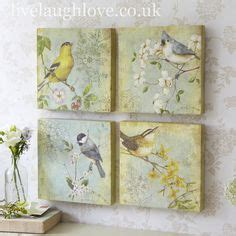 U28 Walldecor Poster Vintage Shabbychic how to decoupage on glass with rice paper napkin glitter
