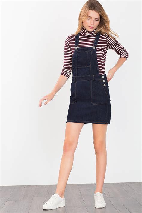 esprit dungaree skirt in denim at our shop