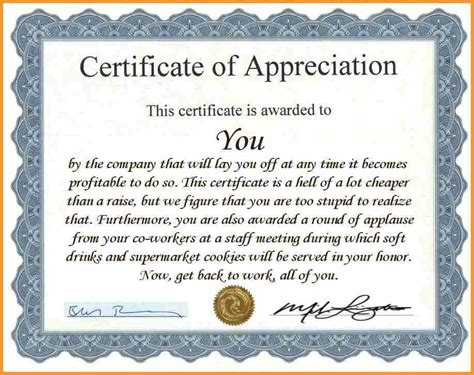 recognition certificates wording certificates of