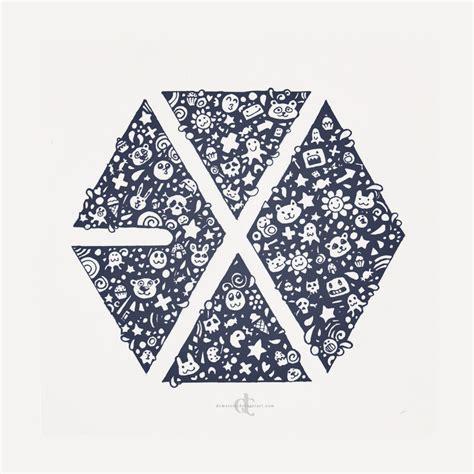 exo doodle wallpaper exo logo wallpaper wallpapersafari