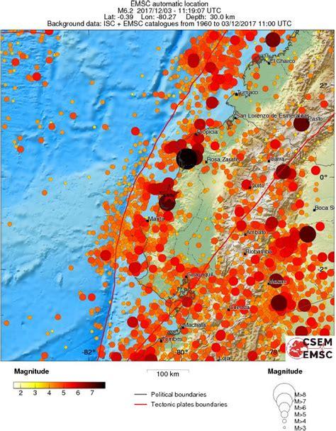 earthquake december 2017 strong and shallow m6 0 earthquake near the coast of ecuador