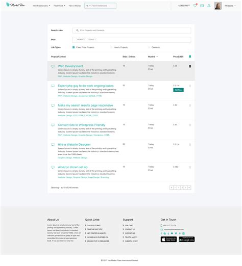 Yes Market Place Freelance Marketplace Psd Template By Thememom Themeforest Freelance Marketplace Website Template