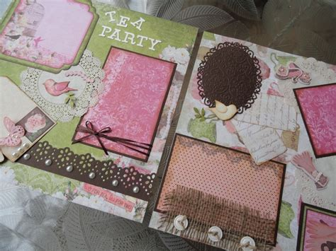 premade double scrapbook page layout alice in wonderland 10 images about tea party on pinterest scrapbook kit