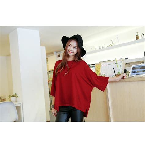 Blus Pakaian Baju Muslim Wanita Blouse Shelamita Top korean style fall box soft spandex baju