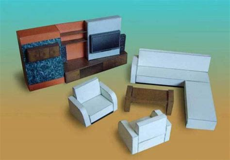 Papercraft Furniture - furniture papercraftsquare free papercraft