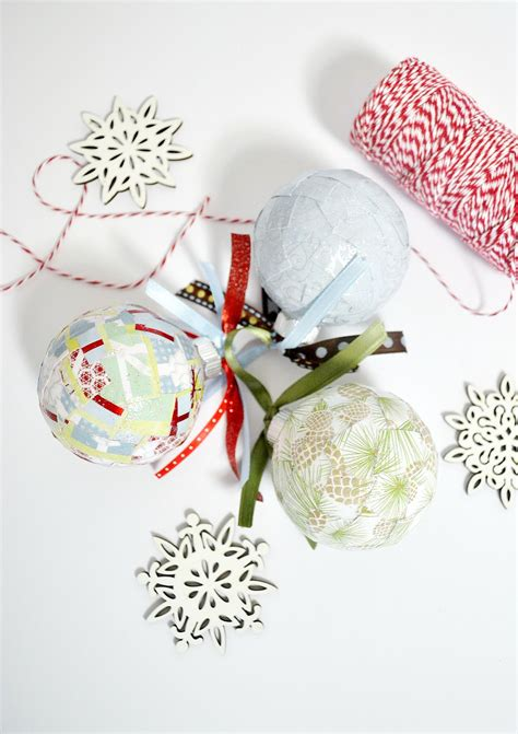 easy paper scrap diy ornaments mod podge rocks