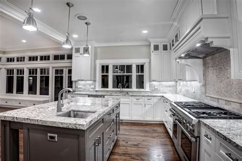White Silver Granite Countertop by High End Granite Countertops With White Cabinets And