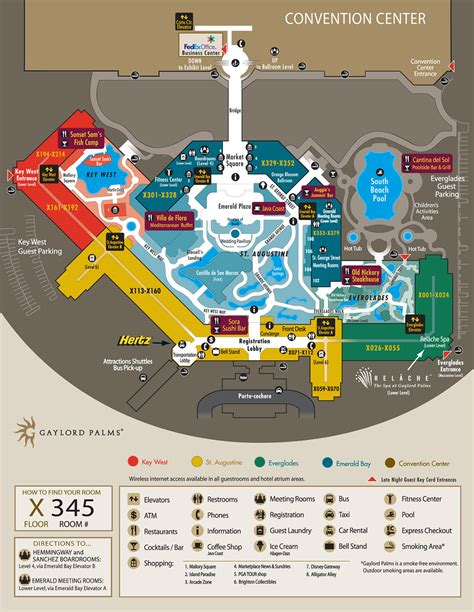 opryland hotel layout map debra 2012 pcc gaylord palms resort overview map
