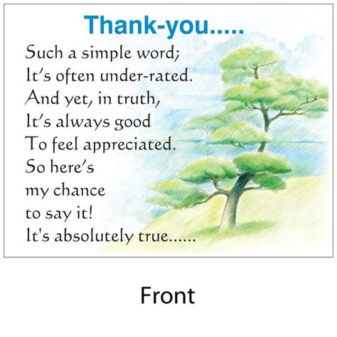 poems to say thank you for wedding gifts angelas poems shop thankyou with envelope