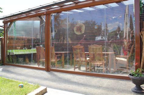 Windschutzrollo Terrasse Transparent