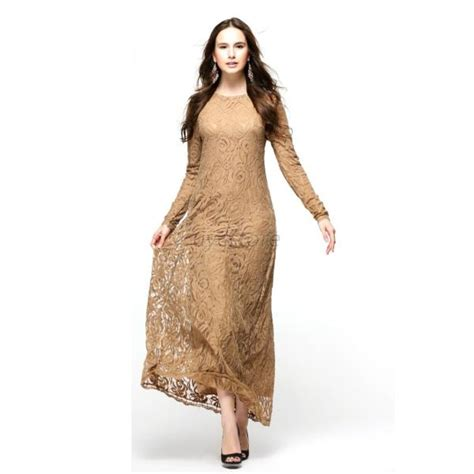 Maxi 8577 Dress Busana Muslim abaya jilbab muslim kaftan dress sleeve maxi gown partywear dress u60 ebay