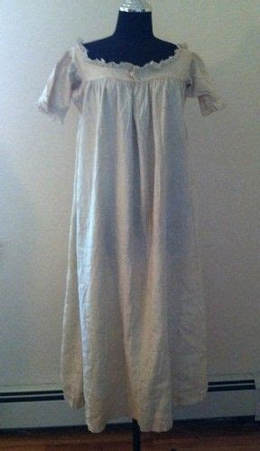 early victorian cotton nightgown chemise  century