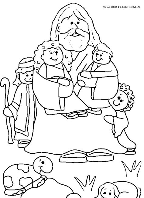 coloring book pages bible stories jesus and children color page bible story color page