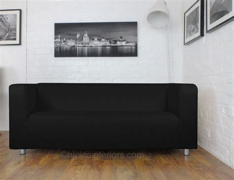 black leather couch covers black leather look klippan cover hipica interiors