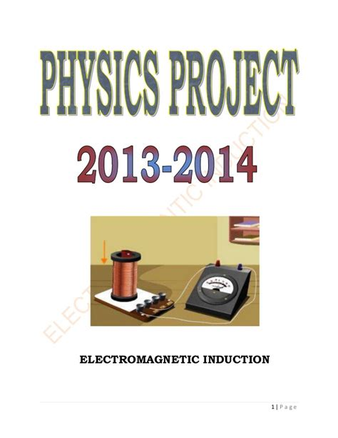 electromagnetic induction research paper electromagnetic induction