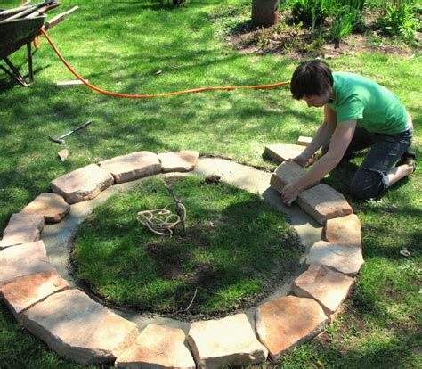 building a firepit in backyard fire pit diy