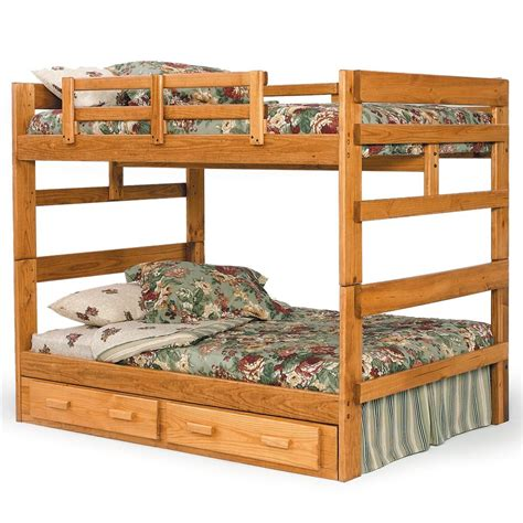 woodcrest bunk beds woodcrest heartland br rustic full full bunk bed with center support furniture fair