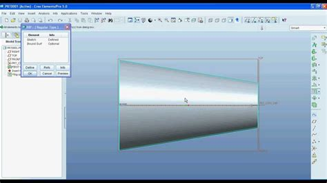 pro engineer pattern youtube pro e creo how to unfold or unbend object in sheet metal