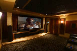 Size Of Small Home Theater Large Screen Despite A Compact Room Size Traditional