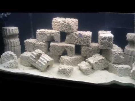 aquascaping live rock in wall reef aquarium part 7 with diy live rock aquascaping youtube