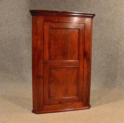 antique georgian mahogany wall cabinet corner
