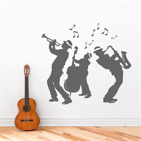 jazz group concert decal musicians wall decals home jazz band wall decal